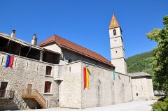 Eglise paroissiale Saint-Martin - Français:   Colmars église et son clocher