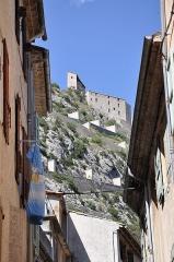 Fortifications et citadelle - Citadelle d'Entrevaux vue de la ville