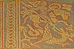 Prieuré - Deutsch: Prieuré de Ganagobie,Schiff, Mosaik Nr. 13