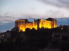 Château des Templiers - English: Gréoux Castle, by night