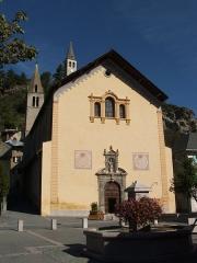 Eglise Saint-Nicolas-de-Myre -  Jausiers, département des Alpes-de-Haute-Provence, France  L'èglise