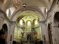 Eglise Saint-Nicolas-de-Myre - Français:   Jausiers - Église St Nicolas-de-Myre - Nef