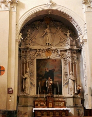 Eglise Saint-Nicolas-de-Myre - Français:   Jausiers - Église St Nicolas-de-Myre - Chapelle latérale