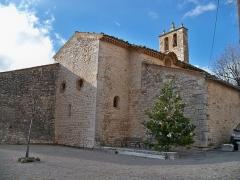 Ancienne Commanderie des Hospitaliers (avec l'église) - English: Sainte Anne Church in Lardiers, Alpes de Haute Provence, France