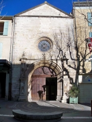Eglise Notre-Dame-de-Romigier - Français:   Facade de l\'église Notre Dame de Romigier, Manosque (04), France