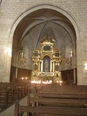 Chapelle Notre-Dame de Beauvoir - Français:   Le choeur de la chapelle de N-D de Beauvoir à Moustiers-Sainte-Marie est de style gothique alors que la nef est de style roman (13ème siècle)