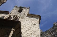 Eglise -  Détail de l'église, Moustiers-Sainte-Marie, Alpes-de-Haute-Provence, France