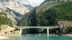 Pont d'Aiguines sur le Verdon - Pont du Galetas sur la RD 957 entre Moustiers-Sainte-Marie et Aiguines.