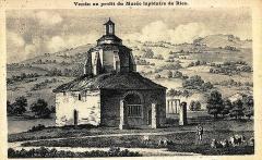 Baptistère dit le Panthéon (chapelle circulaire) - Français:   Gravure du baptistère de Riez