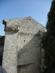 Eglise -  Église Saint-Martin de Saint-Martin-les-Eaux (Alpes-de-Haute-Provence), mur nord