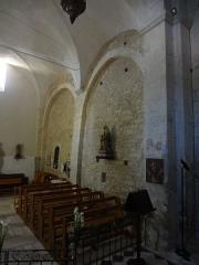 Eglise -  Église Saint-Martin de Saint-Martin-les-Eaux (Alpes-de-Haute-Provence), mur nord penchant