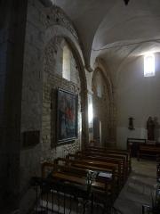 Eglise -  Église Saint-Martin de Saint-Martin-les-Eaux (Alpes-de-Haute-Provence), mur sud penchant