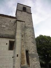 Chapelle avec son clocher -  Clocher de l'église Saint-Michel à Saint-Michel-de-l'Observatoire (04).