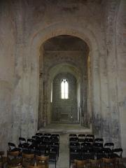 Chapelle avec son clocher -  Nef de l'église Saint-Michel à Saint-Michel-de-l'Observatoire (04).