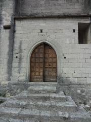 Chapelle avec son clocher -  Portail méridional de l'église Saint-Michel à Saint-Michel-de-l'Observatoire (04).