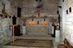 Remparts - Français:   L\'intérieur de la chapelle de la tour de Porchères