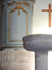 Eglise - Français:   Baptistère couvert