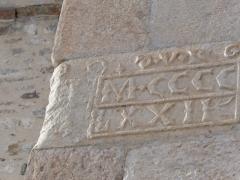 Eglise - Français:   Date de reconstruction du clocher