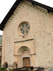 Eglise - Français:   Saint-Paul-sur-Ubaye - Eglise Saint-Pierre-et-Saint-Paul - Façade ocidentale