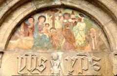 Eglise - Français:   Église Saint-Pons à Saint-Pons (Alpes-de-Haute-Provence) - Tympan de la porte latérale