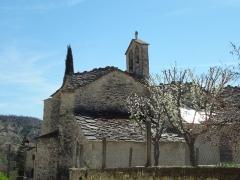 Eglise paroissiale Saint-Claude -       This file was uploaded  with Commonist.  Façade de Saint-Claude de Sigonce (datable entre les XIVe et XVIe siècles selon les sources)
