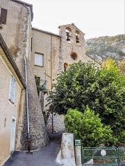 Chapelle Saint-Marcel - Français:   Façade de la chapelle Saint-Marcel. La Baume, Sisteron.