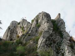 Citadelle - Français:   Citadelle de Sisteron - la guérite du diable vue du pont