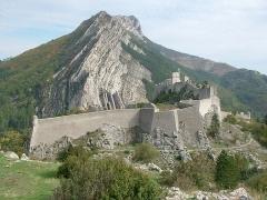 Citadelle - Français:   Citadelle de Sisteron - vue de l\'ouest