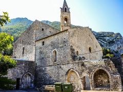 Eglise des Dominicains de la Baume - Français:   Aspect actuel de l\'ancien cloître et de l\'église de l\'abbaye Saint-Dominique de La Baume. Sisteron