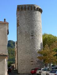 Enceinte (restes de l'ancienne) - Français:   Sisteron - Enceinte - Tour Notre-Dame