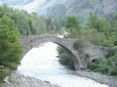 Ancien pont d'Ondres dit pont du Moulin sur le Verdon - Français:   Thorame-Haute - Pont du Moulin