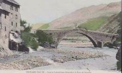 Ancien pont d'Ondres dit pont du Moulin sur le Verdon - Français:   Thorame-Haute Scierie et pont