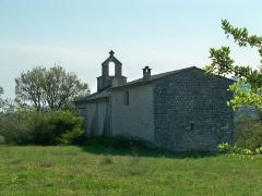 Prieuré Notre-Dame-du-Largue - English: Notre Dame Chapel near Villemus, Alpes de Haute Provence, France