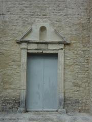 Prieuré Notre-Dame-du-Largue -  portail de la chapelle Notre-Dame-du-Largue, Villemus