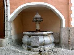 Fontaine des Soupirs -  Hautes Alpes Briancon Grande Gargouille Fontaine Soupirs 14072013