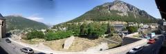 Anciennes fortifications de la Ville Haute - Italiano: La cittadina di Briançon, Francia - panorami