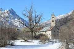 Eglise des Guibertes - Français:   Eglise des Guibertes; Le Monêtier-les-Bains; Hautes-Alpes