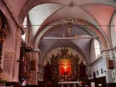 Eglise paroissiale Saint-Véran - Français:   Saint-Véran - Église Saint-Véran - Nef