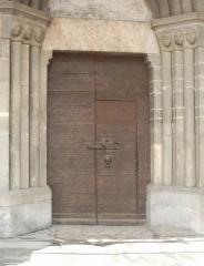 Eglise paroissiale Saint-Marcellin - Français:   porte secondaire (Saint Marcellin la Salle les Alpes).jpg  Utilisateur:Melendil