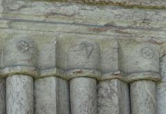 Eglise - Français:   Les Vigneaux - Église Saint-Laurent - Portail Réal: colonnettes