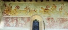 Eglise - Français:   Les Vigneaux - Église Saint-Laurent - Peinture murale des pêchés capitaux et de ce qui attend ceux qui ont pêché