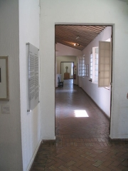 Château des Grimaldi, actuellement musée Picasso -  A hallway with open windows on the upper floor of the Musée Picasso in the Château Grimaldi.  (img_2783)