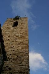 Eglise paroissiale, chapelle Saint-Esprit et tour Grimaldi - English: Antibes - Rue Christian Chessel - View NE & Up