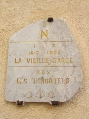 Eglise paroissiale, chapelle Saint-Esprit et tour Grimaldi -  plaque vieille garde chapelle st esprit napoleon Antibes