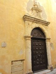 Eglise paroissiale, chapelle Saint-Esprit et tour Grimaldi -  porte chapelle st Esprit Antibes