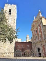 Eglise paroissiale, chapelle Saint-Esprit et tour Grimaldi -  st esprit et campanile cathedrale Antibes