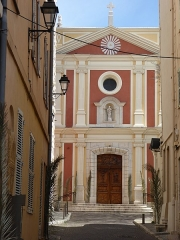Eglise paroissiale, chapelle Saint-Esprit et tour Grimaldi - English: Cathédrale Notre-Dame-de-la-Platea d'Antibes