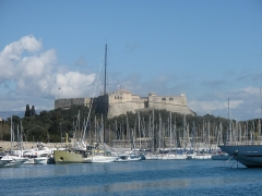 Fort-Carré - English: The fort carré above the port of Antibes, Alpes-Maritimes, France