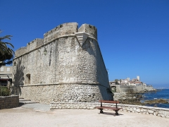 Remparts et demi-bastion 17 dit Fort Saint-André - English: Bastion of the old town of Antibes (Alpes-Maritimes, France).