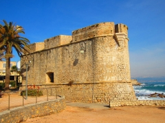 Remparts et demi-bastion 17 dit Fort Saint-André - English: Bastion st andre Antibes